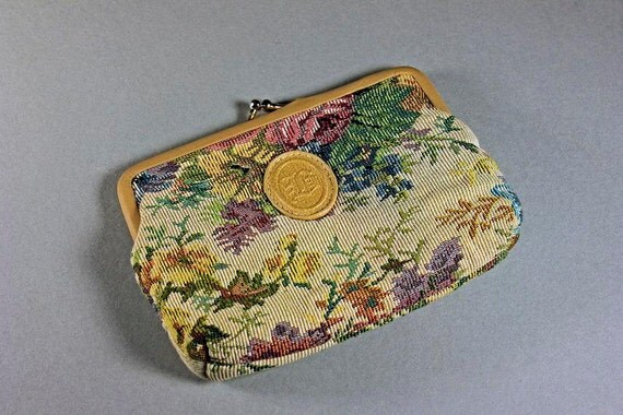 Tapestry Purse, Bagland, Kiss Clasp, Clutch Purse