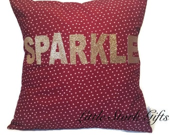 Sparkle Cushion personalised, sparkle cushion, glitter cushion, personalised cushion, gift idea