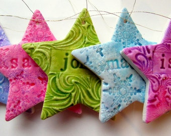 Christmas Decoration - Gorgeous personalized star decoration - you choose everything!
