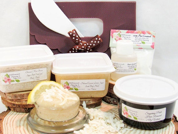 Coconut Lemon Scrub Sugaring Paste Deluxe Starter Kit