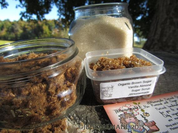 Natural Almond Vanilla Brown Sugar Scrub Body Polish - 2 Oz