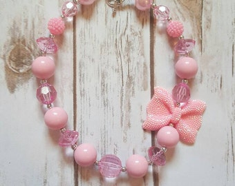 Chunky Necklace, Bubblegum Necklace, Pink Necklace, Girls Necklace, Birthday Gift Idea