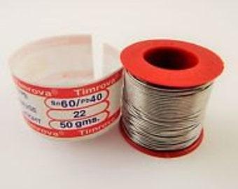 Soldering Wire Tin Lead 60/40 2% Flux Welding Iron 22 Gauge 50 Grams Weight