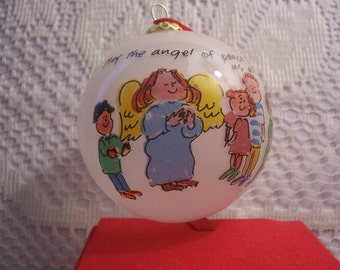 May The Angel of Peace Bless Us all christmas ornament