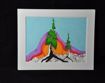 Sunrise Evergreen Fine Print
