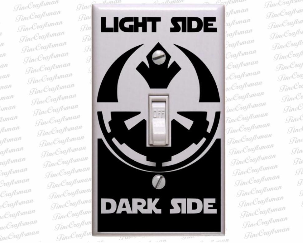 star wars decals star wars light switch decal superhero. Black Bedroom Furniture Sets. Home Design Ideas