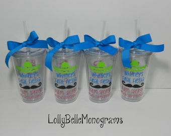 Fiesta Themed Bachelorette Party Tumblers (4)