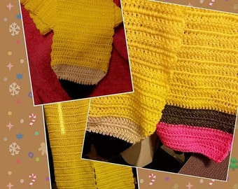 Crocheted Pencil Scarf