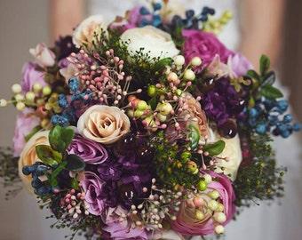 Wedding Bouquet Bridal Bouquet Flower Bridal Bouquet Woodland Bouquet Rustic Bouquet Bridesmaid Bouquet Keepsake Bouquet Natural Bouquet