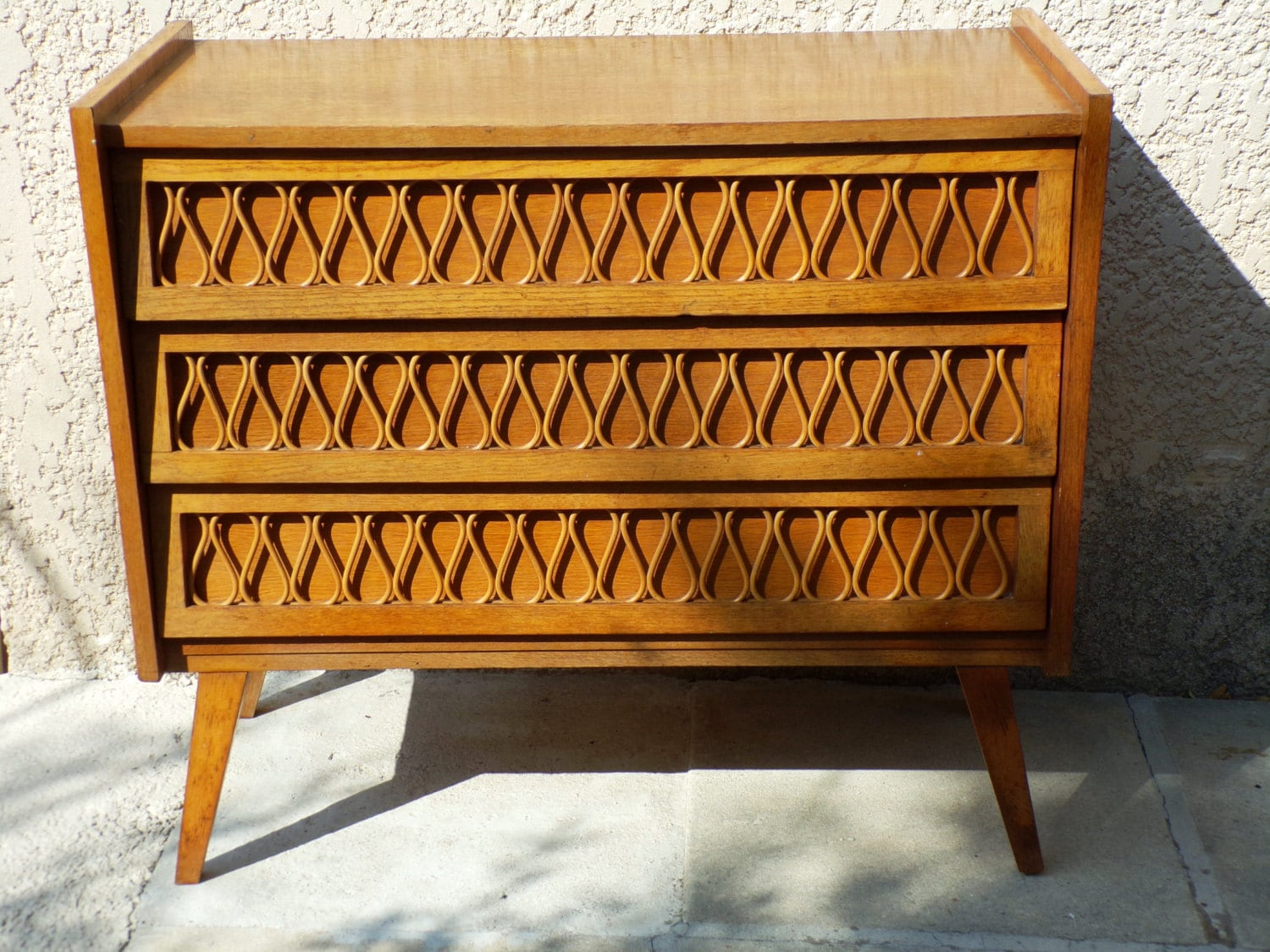 sold out french rattan chest of drawers dresser by popvintages. Black Bedroom Furniture Sets. Home Design Ideas