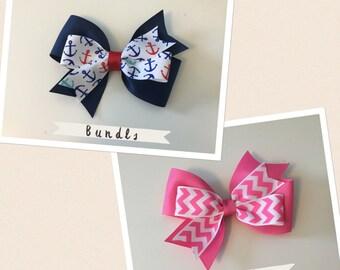 Stacked Mini Pinwheel Hair Bow