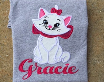 Aristocat's Marie Glitter Applique Shirt