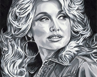 Dolly Parton Original Painting Print 12 x 18