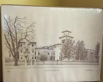 Vintage Print Armsmear-Samuel Colt House Signed