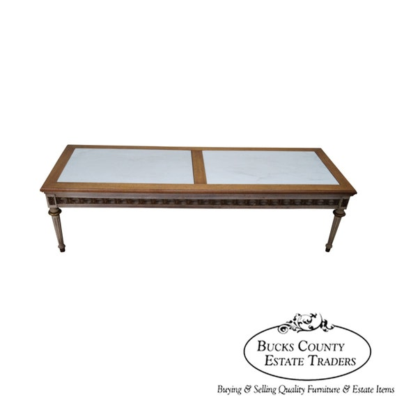 Marble Coffee Table Cleaner: Quality French Louis XVI Style Marble Top Coffee Table W/