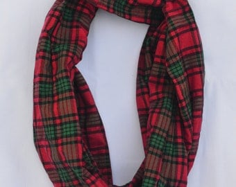 Red and Green Plaid Scarf