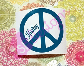 Peace Sign With Name