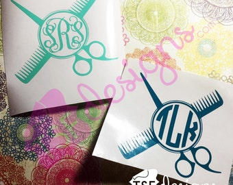 Hairstylist decal with Monogram [2 options ]