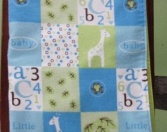 Baby Boy Blocks Snuggle Blanket
