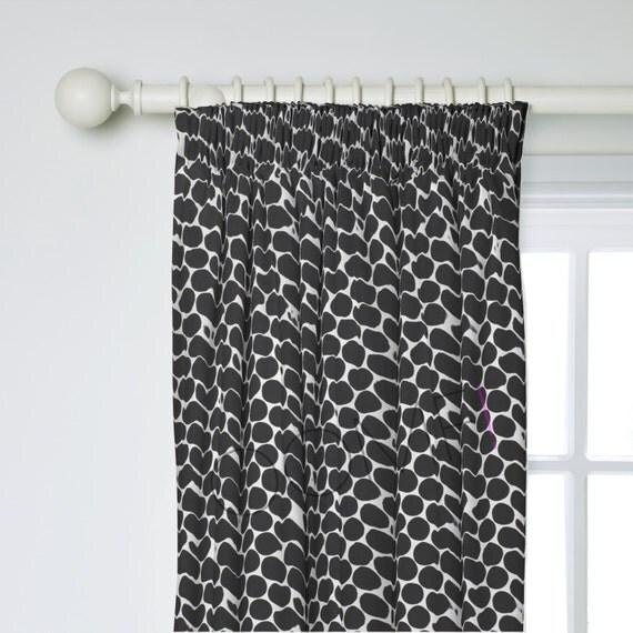 scandinavian curtains polka dot curtains custom by oomfinteriors. Black Bedroom Furniture Sets. Home Design Ideas