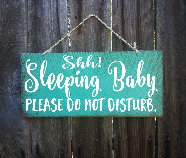 Baby Sleeping Sign Baby Shower Gift Baby Sleeping Door Sign