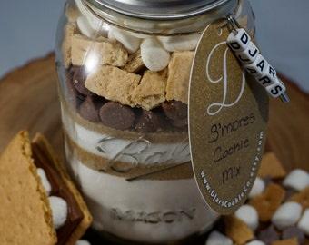 S'mores Cookies - Mason Jar Cookie Mix