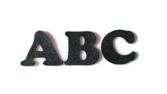 Letter initial iron on patch 3 inches cooper black font for 3 inch black metal letters