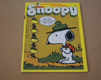 Vintage 1987 - Snoopy Magazine in Italian - September comics and activities