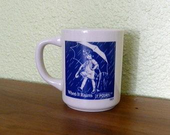 Vintage Morton Salt Mug When It Rains It Pours 1921