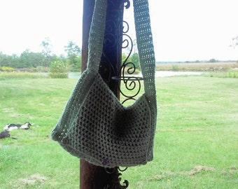 Beach Bag * Crochet bag, over the shoulder bag, summer bag, green