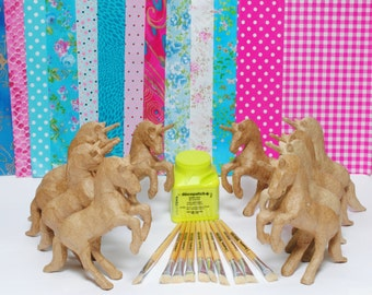 Unicorn Party Kit for 10 - includes all materials and brushes.