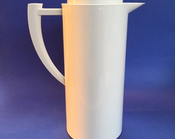 Mid Century 70's 10 Cup Meiltta Germany White Insulated Coffee Carafe Thermos