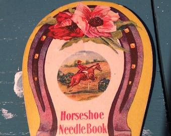 Needle Book Horseshoe