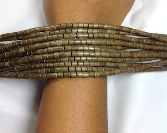 Greywood tube beads 6x6 mm