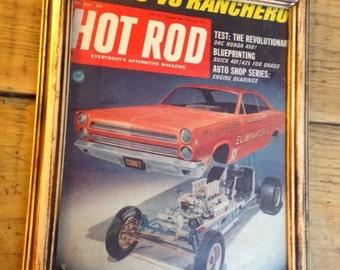 1968 Hot Rod magazine covet Mercury Comet framed car print