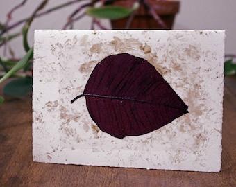 Gold Speckle Poinsettia Leaf, Cotton Christmas Card