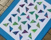 """Handmade quilt Kaffe Fassett fabrics modern quilt throw baby toddler quilt baby blanket 39"""" x 50"""""""