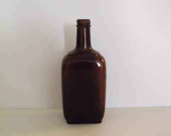 1950's Collectible Amber/Brown Glass Pharmaceutical Bottle
