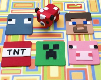 Minecraft Cake Topper Etsy Uk