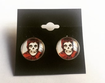Crimson Ghost Stud Earrings