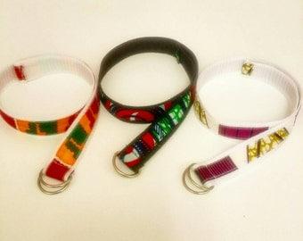 African Fabric children's belts - Ankara Fabric - Kente Print