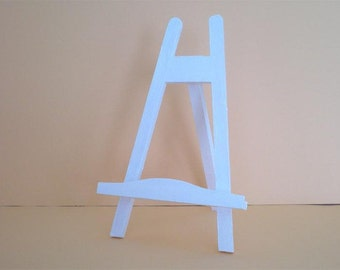 Colored stable table easel, card holder
