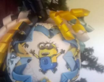Handcrafted quilted ornament ball Minions
