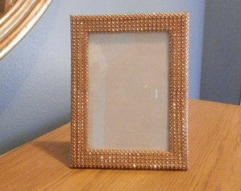 Gold or silver Wedding picture frame , 5x7 gold rhinestone wedding picture frame, Wedding decorations, Table number frame
