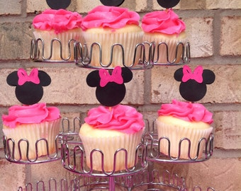 Minnie Mouse cupcake topper-Minnie Mouse cupcake-Mickey Mouse cupcake topper-Mickey mouse cupcake-Minnie Mouse deocration-Minnie Mouse Party