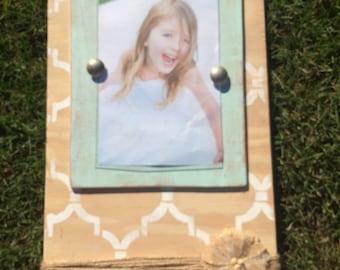 Wood frame, holds a 5x7 photo