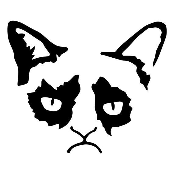 Grumpy Cat Die Cut Decal Car Window Wall Bumper Phone Laptop