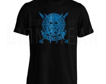 Vikings Warrior T-Shirt - Thor Odin Runes Germanic Norse