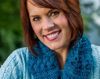 PDF Knitting Pattern Reversible Cabled Cowl in Two Sizes #701