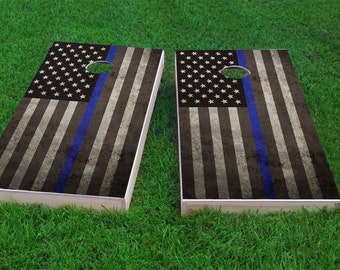 Thin Blue Line America - PoliceLivesMatter 2x4 Custom Cornhole Board Set with bags | Custom Corn Hole | Bag Toss | Corn Toss | Bean Bag Toss